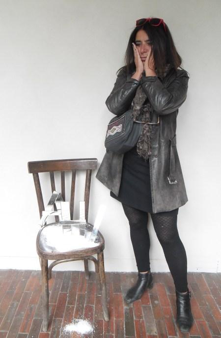 La sedia in piedi